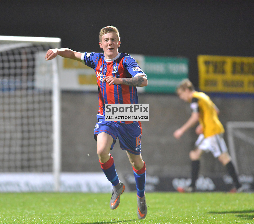 Delighted - Kyle MacLeod of Elgin can't hide that goal scoring feeling.....(c) BILLY WHITE | SportPix.org.uk