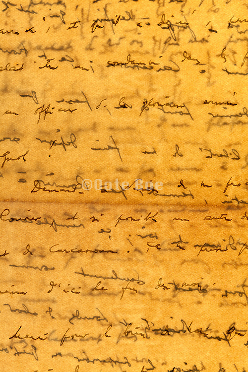 detail of an old handwritten letter