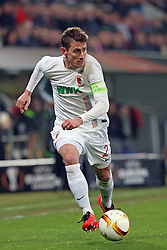 18.02.2016, WWKArena, Augsburg, GER, UEFA EL, FC Augsburg vs FC Liverpool, Sechzehntelfinale, Hinspiel, im Bild Paul Verhaegh ( FC Augsburg ) // during the UEFA Europa League Round of 32, 1st Leg match between FC Augsburg and FC Liverpool at the WWKArena in Augsburg, Germany on 2016/02/18. EXPA Pictures © 2016, PhotoCredit: EXPA/ Eibner-Pressefoto/ Langer<br /> <br /> *****ATTENTION - OUT of GER*****