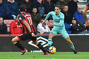 Hector Bellerin (2) of Arsenal on the attack during the Premier League match between Bournemouth and Arsenal at the Vitality Stadium, Bournemouth, England on 25 November 2018.