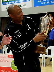 12-04-2014 NED: Finale vv Alterno - Sliedrecht Sport, Apeldoorn<br /> Alterno pakt het kampioenschap door Sliedrecht voor de derde maal te verslaan / Trainer Albert Cristina