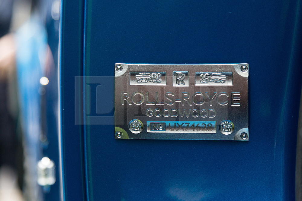 © Licensed to London News Pictures. 13/05/2014. London, UK. The new Rolls-Royce Waterspeed Phantom Drophead Coupé is unveiled at the Bluebird cafe in London on 13th May 2014. The limited edition of 35 Phantom Drophead Coupé Waterspeeds commemorate four times water speed record breaker Sir Malcolm Campbell and is the first Rolls Royce to have blue wheels and a blue engine. Photo credit : Vickie Flores/LNP
