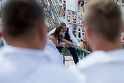 Wedding photo session during The Tall Ships Races 2013 on Odra River in Szczecin, Poland.<br /> <br /> Poland, Szczecin, August 05, 2013<br /> <br /> Picture also available in RAW (NEF) or TIFF format on special request.<br /> <br /> For editorial use only. Any commercial or promotional use requires permission.<br /> <br /> Mandatory credit:<br /> Photo by &copy; Adam Nurkiewicz / Mediasport