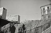 Del av Brunkebergsåsen som grävs bort vid Sergels torg.