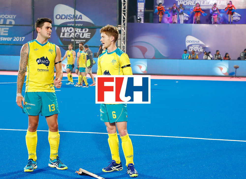 Odisha Men's Hockey World League Final Bhubaneswar 2017<br /> Match id:15<br /> Spain v Australia<br /> Foto: Blake Govers (Aus) and Matt Dawson (Aus) <br /> COPYRIGHT WORLDSPORTPICS KOEN SUYK