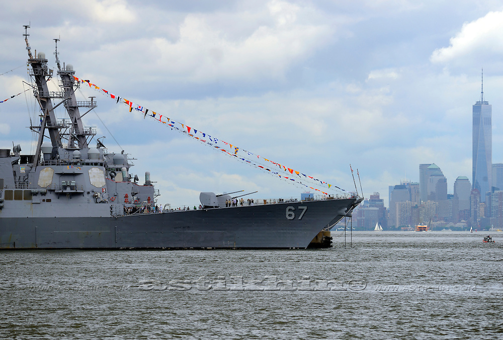 USS Cole DDG 67 and USS McFaul DDG74 in New York harbor.