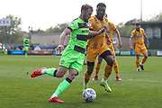 Forest Green Rovers Christian Doidge(9) runs forward during the EFL Sky Bet League 2 match between Forest Green Rovers and Cambridge United at the New Lawn, Forest Green, United Kingdom on 22 April 2019.