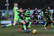 Forest Green Rovers Carl Winchester(7) during the EFL Sky Bet League 2 match between Forest Green Rovers and Yeovil Town at the New Lawn, Forest Green, United Kingdom on 16 February 2019.
