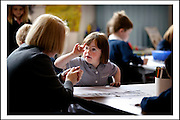 VERITY SAUNDERS, WHO SUFFERS FROM DOWNS SYNDROME, IN CLASS 1a AT FLORA STEVENSON PRIMARY SCHOOL, STOCKBRIDGE, EDINBURGH.<br /> <br /> 10.15am MONDAY 21st JUNE 2004