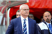Leicester City Manager Claudio Ranieri  during the Barclays Premier League match between Sunderland and Leicester City at the Stadium Of Light, Sunderland, England on 10 April 2016. Photo by Simon Davies.
