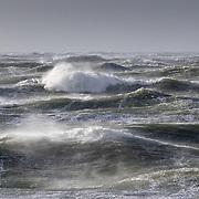 coup de vent aux phares des baleines dans l'île de Ré
