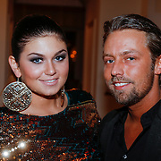 NLD/Amsterdam/20121112 - Beau Monde Awards 2012, Roxanne Hazes en partner