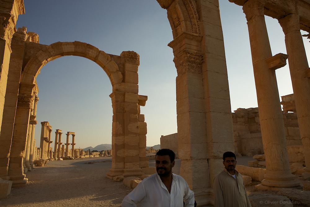 Ruins of Palmyra, Syria. Les ruines de Palmyre, Syrie.