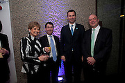 DEBORAH BORDA;  JEREMY MAYHEW; JEREMY HUNT; NICK KENYON, LA Philharmonic reception, Fountain room, Barbican. 27 January 2011 -DO NOT ARCHIVE-© Copyright Photograph by Dafydd Jones. 248 Clapham Rd. London SW9 0PZ. Tel 0207 820 0771. www.dafjones.com.