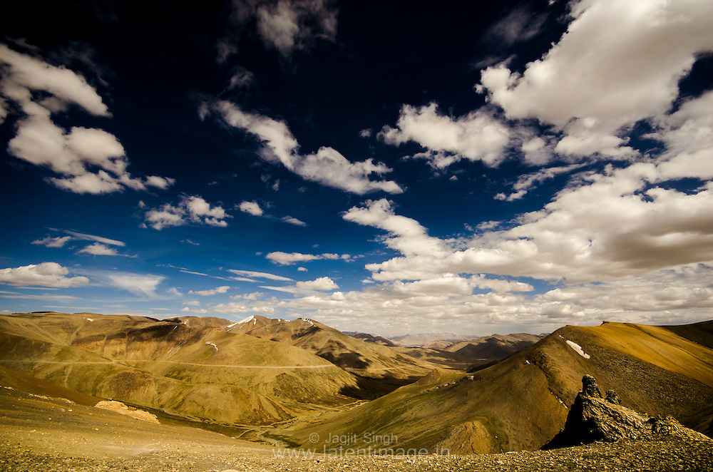 Beautiful formation of Clouds. A view from T Top, on the way to Leh.