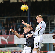 Inverness&rsquo; Carl Tremarco  out jumps Dundee's Greg Stewart - Dundee v Inverness Caledonian Thistle in the Ladbrokes Premiership at Dens Park<br /> <br />  - &copy; David Young - www.davidyoungphoto.co.uk - email: davidyoungphoto@gmail.com