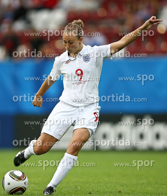 17.07.2010,  Augsburg, GER, FIFA U20 Womens Worldcup, England vs Mexico,  im Bild Toni Duggan (England Nr.9)  , EXPA Pictures © 2010, PhotoCredit: EXPA/ nph/ . Straubmeier+++++ ATTENTION - OUT OF GER +++++ / SPORTIDA PHOTO AGENCY