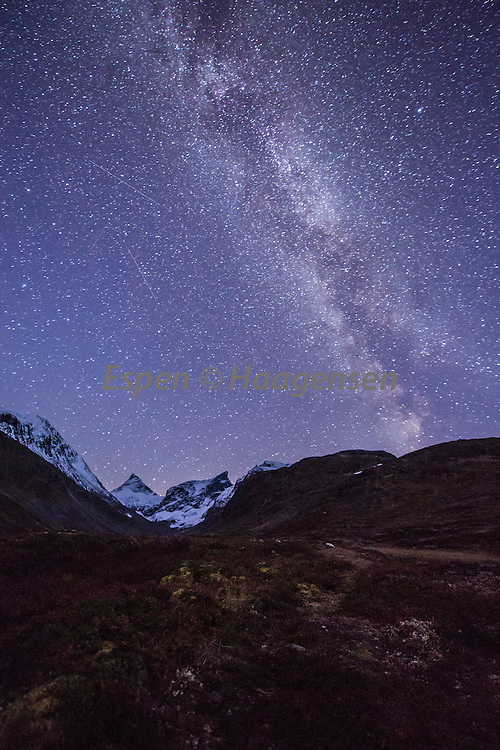 The milky way above Ringsdalen