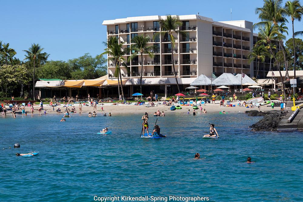HI00448-00...HAWAI'I - Kailua Bay and the Courtyard By Marriott King Kamehameha's in the town of Aloha Kona along the Kona Coast on the island of Hawai'i