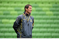 27 June 2013; Australia head coach Robbie Deans during squad training ahead of their 2nd test match against the British & Irish Lions on Saturday. British & Irish Lions Tour 2013, Australia Squad Training. AAMI Park, Olympic Boulevard, Melbourne, Australia. Picture credit: Stephen McCarthy / SPORTSFILE