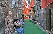 Celebration for the feast of Saint Rosalia in an alley in Palermo<br /> <br /> Celebrazione per il festino di Santa Rosalia in un vicolo del centro storico di Palermo