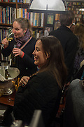 MERRY BROWNFIELD; CHARLOTTE COLBERT, Book launch for 'I Should Have Said' by Daisy de Villeneuve, John Sandoe Books, Blacklands Terrace. Chelsea, London. 10 March 2015.