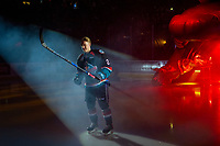 KELOWNA, CANADA - SEPTEMBER 22:  Lassi Thomson #2 of the Kelowna Rockets enters the ice against the Kamloops Blazers on September 22, 2018 at Prospera Place in Kelowna, British Columbia, Canada.  (Photo by Marissa Baecker/Shoot the Breeze)  *** Local Caption ***
