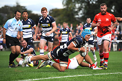 Bristol Rugby Flanker Olly Robinson scores a try which is ruled out  - Mandatory byline: Dougie Allward/JMP - 07966 386802 - 13/09/2015 - RUGBY UNION - Old Deer Park - Richmond, London, England - London Welsh v Bristol Rugby - Greene King IPA Championship.