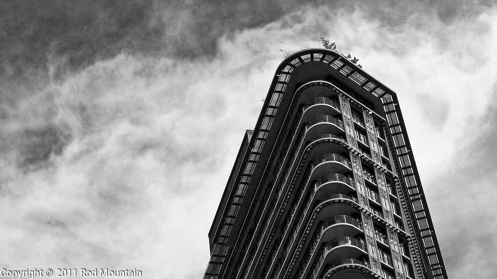 A condo highrise in Vancouver's Gastown.