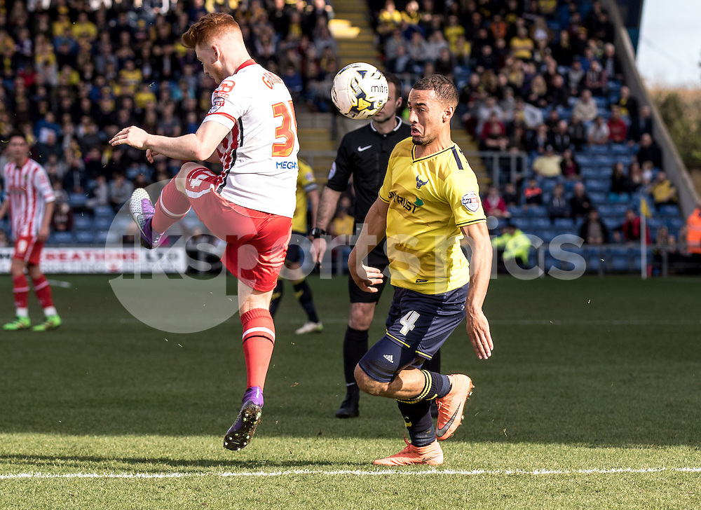 Kemar Roofe of Oxford United during the Sky Bet League 2 match between Oxford United and Stevenage at the Kassam Stadium, Oxford, England on the 25th March 2016. Photo by Liam McAvoy.