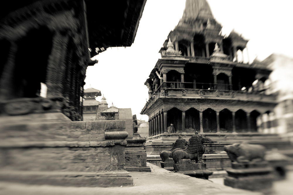 Temple buildings in Patan's Durbar Square.