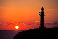 Espa&ntilde;a. Islas Baleares. Formentera. Atardecer en el faro de Cap de Barbaria.<br /> <br /> &copy; JOAN COSTA