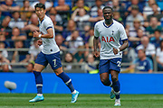 Tottenham Hotspur midfielder Tanguy Ndombele (28), Tottenham Hotspur forward Son Heung-Min (7), during the Pre-Season Friendly match between Tottenham Hotspur and Inter Milan at Tottenham Hotspur Stadium, London, United Kingdom on 4 August 2019.