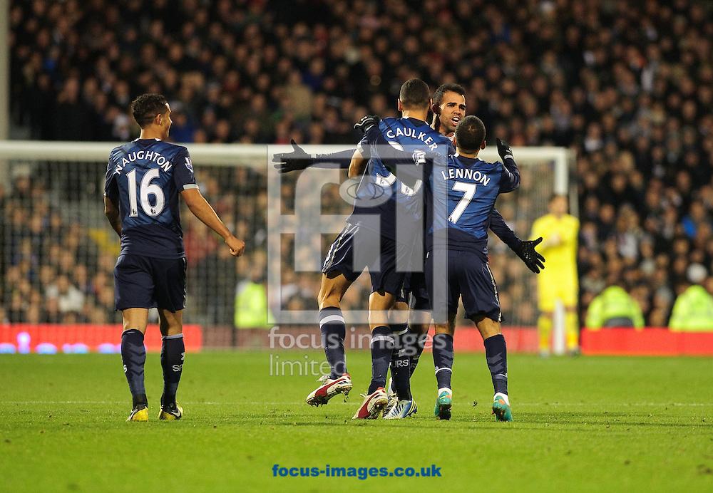 Picture by Gerald O'Rourke/Focus Images Ltd +44 7500 165179.30/11/2012...Sandro of Tottenham Hotspur celebrates goal during the Barclays Premier League match at Craven Cottage, London...