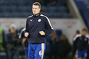 Leicester City defender Robert Huth  during the Barclays Premier League match between Leicester City and Manchester City at the King Power Stadium, Leicester, England on 29 December 2015. Photo by Simon Davies.