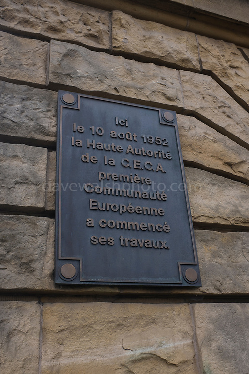 Luxembourg - oroginal site of the ECSC, High Authority of the European Coal and Steel Community<br /> .Ici le 10 aout 1952 la Haute Autorité de la CECA première Communauté Européenne a commencé ses travaux.