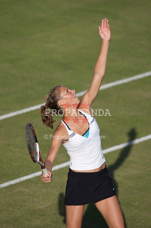 LIVERPOOL, ENGLAND - Tuesday, June 10, 2008: Katarzyna Piter (POL) during the Women's Singles match on the opening day of the Tradition-ICAP Liverpool International Tennis Tournament at Calderstones Park. (Photo by David Rawcliffe/Propaganda)
