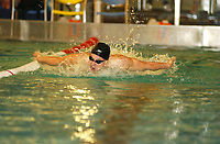 NM svømming senior/05032004/ Grottebadet i Harstad/ Petter Sjødal/100m butterfly herrer FINALE<br /> FOTO: KAJA BAARDSEN/DIGITALSPORT