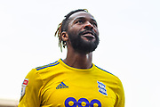 Jacques Maghoma of Birmingham City (19) scores a goal and celebrates to make the score 1-1 during the EFL Sky Bet Championship match between Rotherham United and Birmingham City at the AESSEAL New York Stadium, Rotherham, England on 22 April 2019.