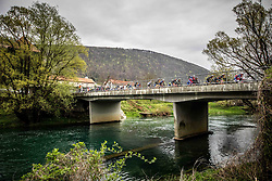 Peloton during cycling race 5th Grand Prix Adria Mobil, on April 7, 2019, in Novo mesto, Slovenia. Photo by Vid Ponikvar / Sportida