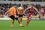Middlesbrough midfielder Carlos De Pena plays the ball during the Sky Bet Championship match between Wolverhampton Wanderers and Middlesbrough at Molineux, Wolverhampton, England on 24 October 2015. Photo by Alan Franklin.