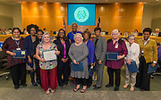 Houston ISD Trustee Jolanda Jones recognizes library staff during a meeting of the Board of Trustees, February 9, 2017.