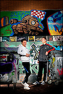 EINDHOVEN - Portret van Vincent met zijn coach voor het Oranjefonds COPYRIGHT ROBIN UTRECHT