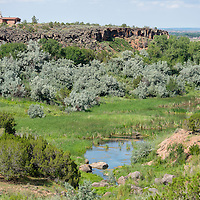 080213       Brian Leddy<br /> The Zuni River flows through a canyon near Black Rock Friday.