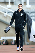 Joselu (#21) of Newcastle United arrives ahead of the Premier League match between Newcastle United and Swansea City at St. James's Park, Newcastle, England on 13 January 2018. Photo by Craig Doyle.