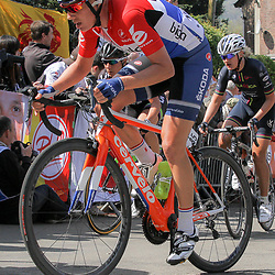 22-04-2015: Wielrennen: Waalse Pijl vrouwen: Huy  <br /> Huy (BEL) Cycling: The last European spring UCI Worldcup womenrace was the Fleche Walonne. A race in the Ardennes with two times the Mur de Huy as climb.<br /> Iris Slappendel national champion Nederland