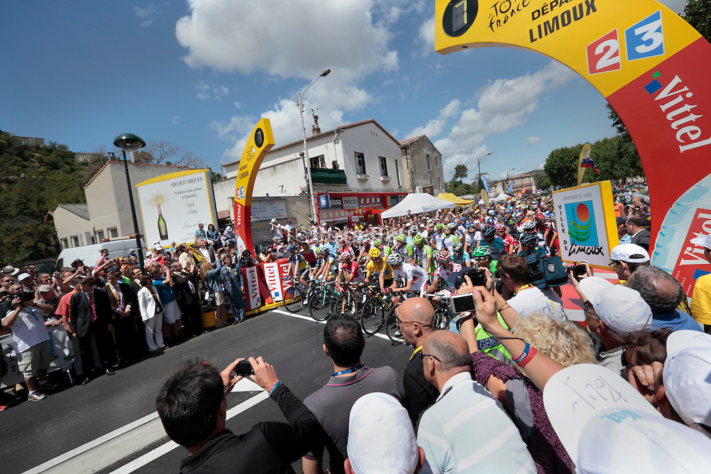 Limoux, Tour de France, 2012 stage 14, 7 seconds before start