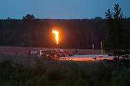 May, 26, 2014, Amite County, MS, Goodrich C.H. Lewis 30-19H-1 well in production with a flare burning.  This hydraulic fracturing site  in the Tuscaloosa shale region where over a dozen exploratory wells that are being built and utilized Louisiana and Mississippi.