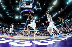 Gasper Vidmar of Slovenia vs Tuukka Kotti of Finland during basketball match between National Teams of Finland and Slovenia at Day 3 of the FIBA EuroBasket 2017 at Hartwall Arena in Helsinki, Finland on September 2, 2017. Photo by Vid Ponikvar / Sportida