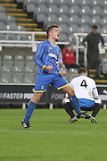 Jason Stripp (captain) of AFC Wimbledon during the FA Youth Cup match between Newcastle United and AFC Wimbledon at St. James's Park, Newcastle, England on 6 January 2016. Photo by Stuart Butcher.